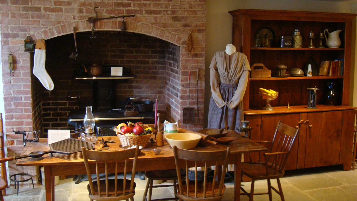 Bedroom The Kitchen Greeley museum virtual tour new castle historical society the kitchen at horace greeley house