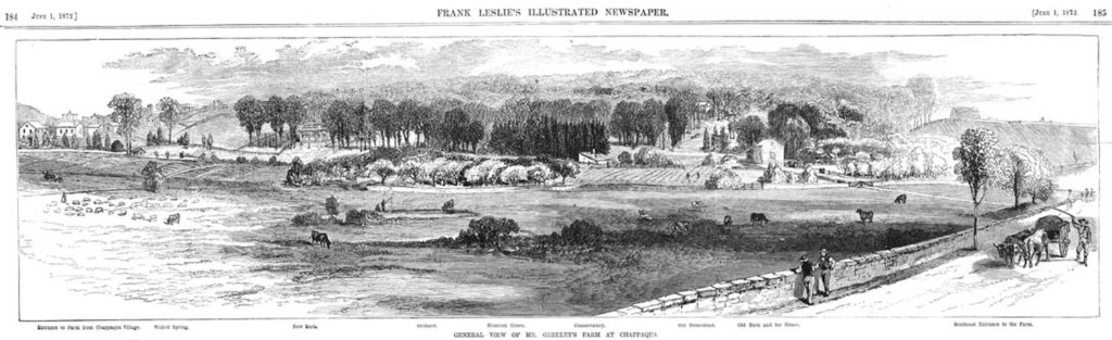 Greeley's Farm in 1872 – Now Downtown Chappaqua