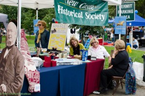 The Society's booth at New Castle Community Day