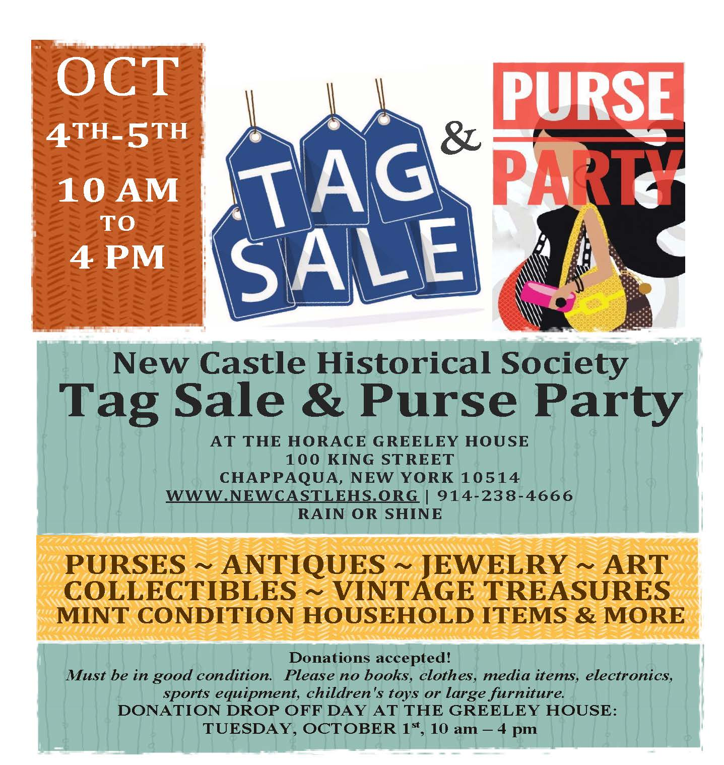 Tag Sale and Purse Party – New Castle Historical Society